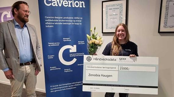 Caverion-lærling Zenobia Haugen vant lærlingstipendet 2021